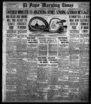 Primary view of object titled 'El Paso Morning Times (El Paso, Tex.), Vol. 38TH YEAR, Ed. 1, Monday, September 10, 1917'.