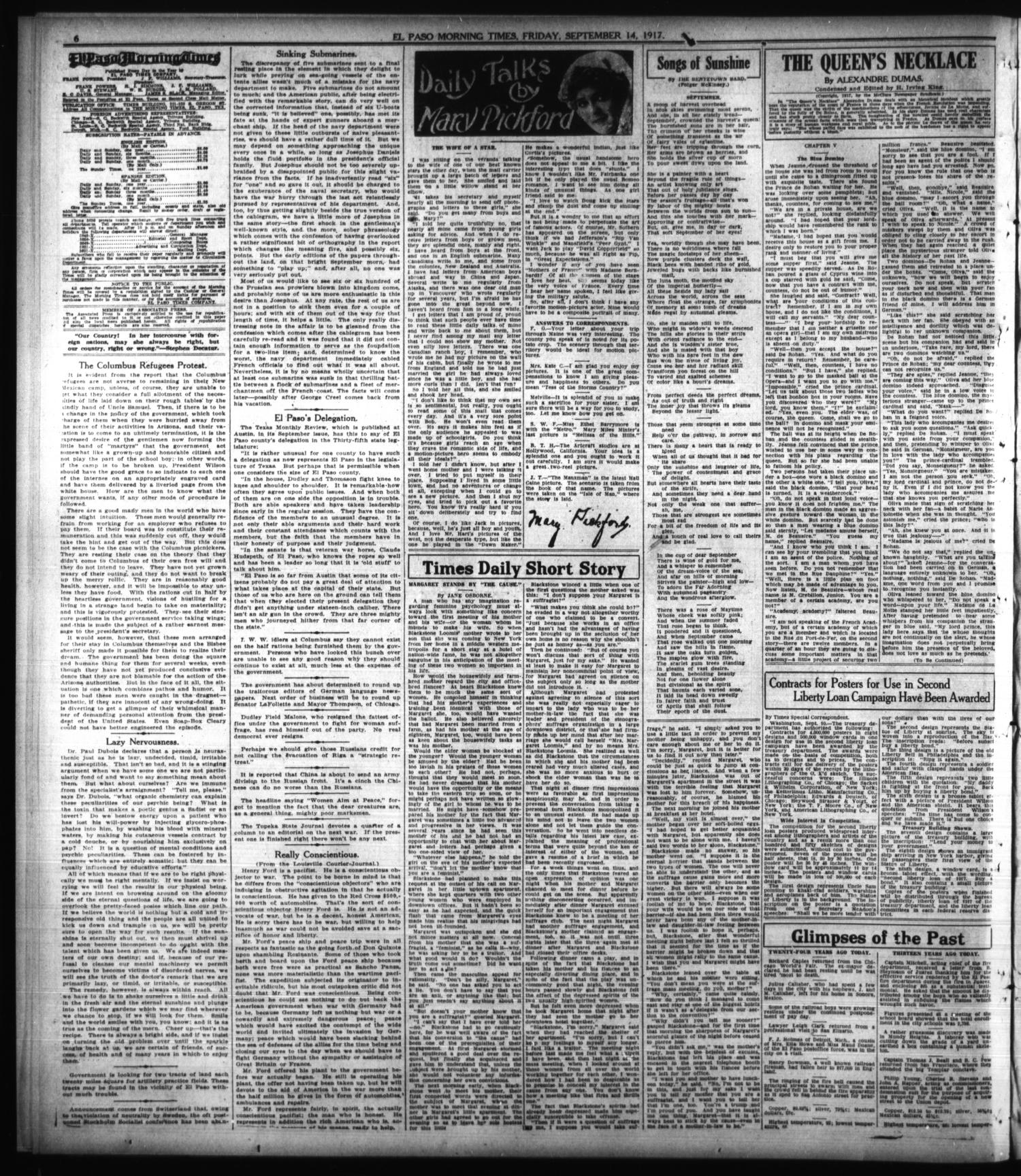 El Paso Morning Times (El Paso, Tex ), Vol  38TH YEAR, Ed  2