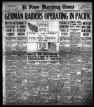 Primary view of object titled 'El Paso Morning Times (El Paso, Tex.), Vol. 38TH YEAR, Ed. 1, Friday, October 5, 1917'.
