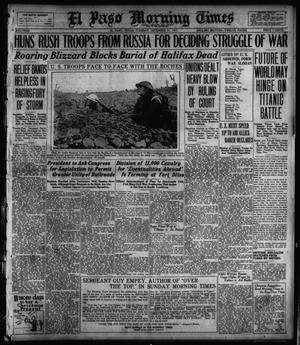 Primary view of object titled 'El Paso Morning Times (El Paso, Tex.), Vol. 38TH YEAR, Ed. 1, Tuesday, December 11, 1917'.