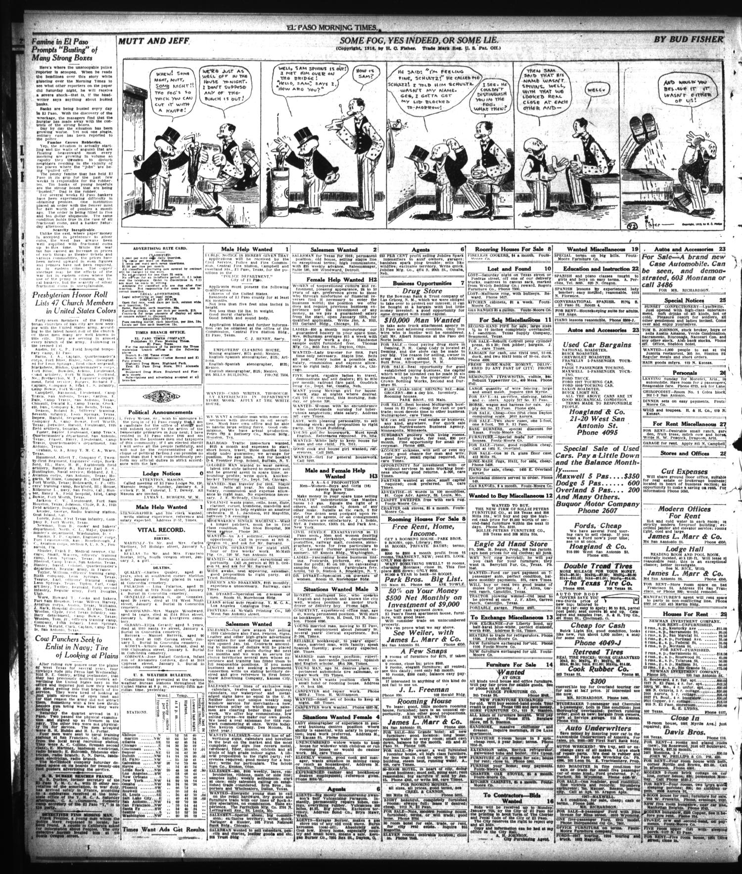 El Paso Morning Times (El Paso, Tex.), Vol. 38TH YEAR, Ed. 2, Monday, January 7, 1918                                                                                                      [Sequence #]: 10 of 12