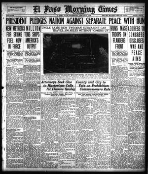 Primary view of object titled 'El Paso Morning Times (El Paso, Tex.), Vol. 38TH YEAR, Ed. 1, Wednesday, January 9, 1918'.