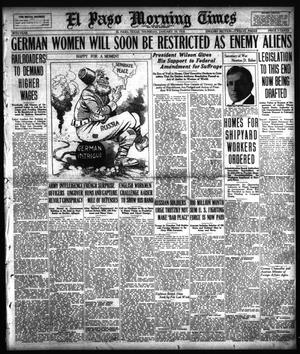 El Paso Morning Times (El Paso, Tex.), Vol. 38TH YEAR, Ed. 1, Thursday, January 10, 1918