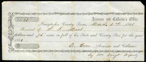 Tax receipt dated March 2, 1861.