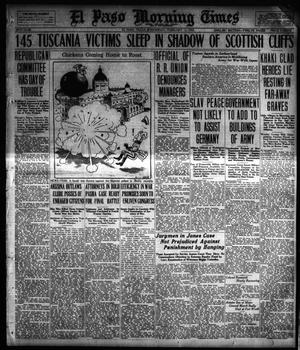 Primary view of object titled 'El Paso Morning Times (El Paso, Tex.), Vol. 38TH YEAR, Ed. 1, Wednesday, February 13, 1918'.