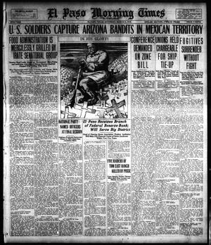 Primary view of object titled 'El Paso Morning Times (El Paso, Tex.), Vol. 38TH YEAR, Ed. 1, Saturday, March 9, 1918'.