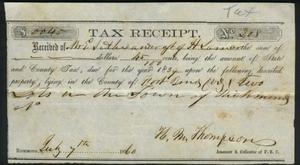 Primary view of object titled 'Tax receipt dated July 7, 1860.'.