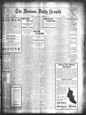 Primary view of object titled 'The Denison Daily Herald. (Denison, Tex.), Vol. 18, No. 119, Ed. 1 Friday, November 30, 1906'.