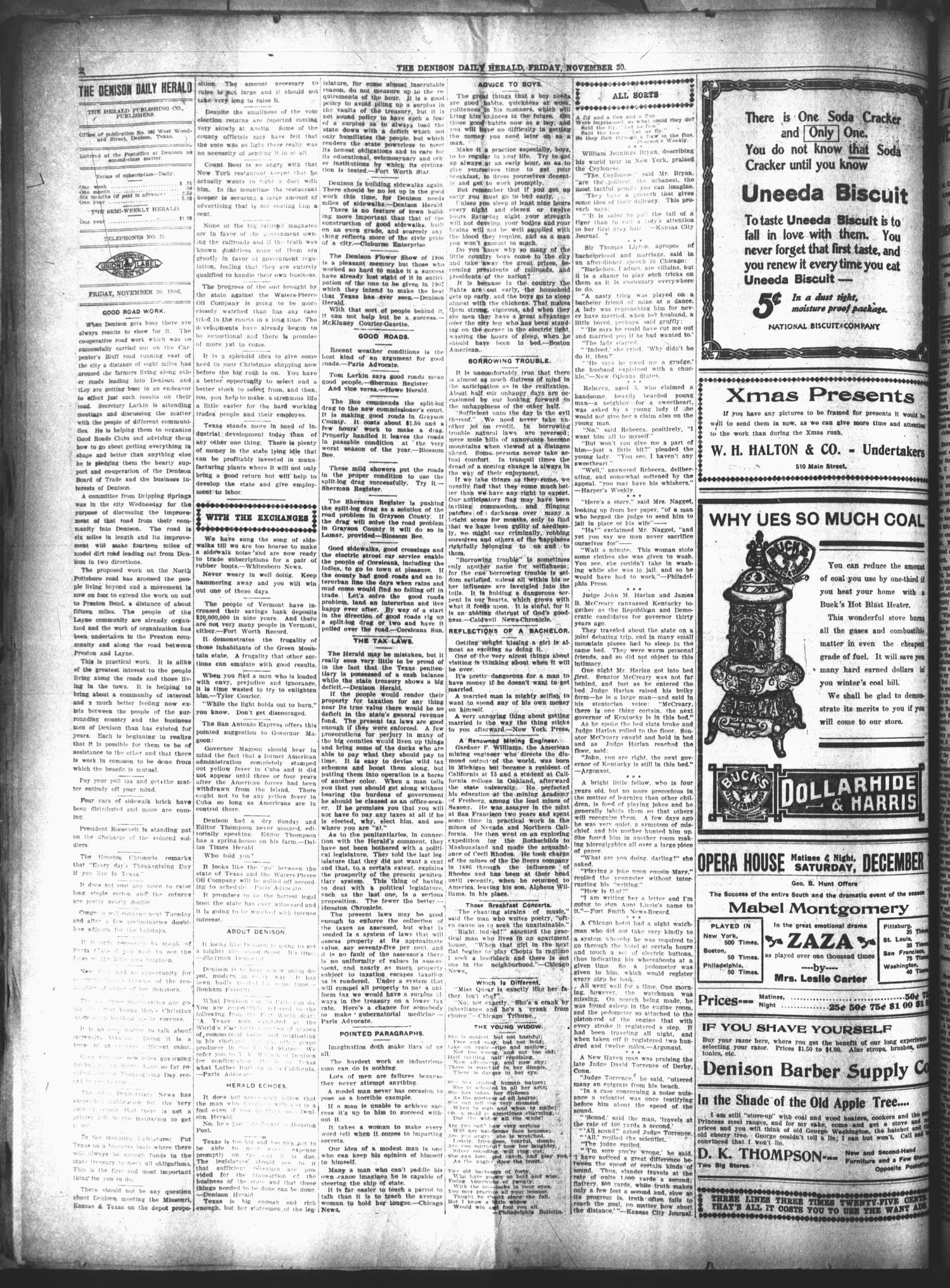 The Denison Daily Herald Denison Tex Vol 18 No 119 Ed 1