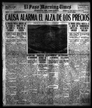 Primary view of object titled 'El Paso Morning Times (El Paso, Tex.), Vol. 36TH YEAR, Ed. 1, Tuesday, May 15, 1917'.