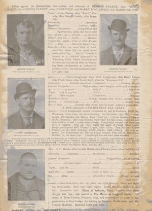 Primary view of object titled 'Butch Cassidy Wanted Poster'.