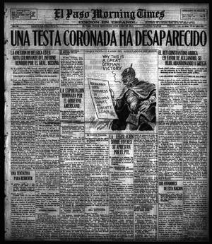 Primary view of object titled 'El Paso Morning Times (El Paso, Tex.), Vol. 36TH YEAR, Ed. 1, Wednesday, June 13, 1917'.