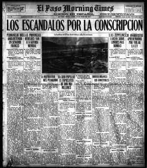 Primary view of object titled 'El Paso Morning Times (El Paso, Tex.), Vol. 36TH YEAR, Ed. 1, Monday, June 18, 1917'.