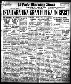 Primary view of object titled 'El Paso Morning Times (El Paso, Tex.), Vol. 36TH YEAR, Ed. 1, Friday, June 29, 1917'.