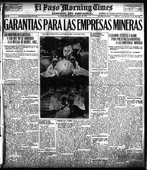 Primary view of object titled 'El Paso Morning Times (El Paso, Tex.), Vol. 36TH YEAR, Ed. 1, Thursday, July 5, 1917'.