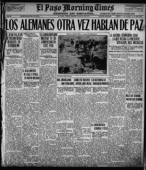 Primary view of object titled 'El Paso Morning Times (El Paso, Tex.), Vol. 36TH YEAR, Ed. 1, Saturday, July 21, 1917'.