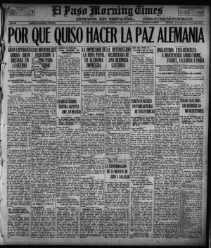 Primary view of object titled 'El Paso Morning Times (El Paso, Tex.), Vol. 36TH YEAR, Ed. 1, Saturday, August 18, 1917'.
