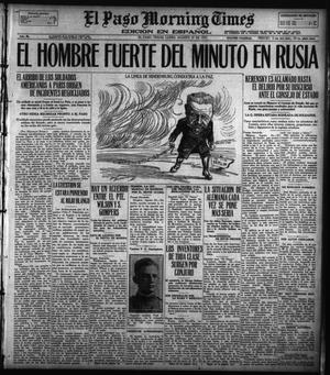 Primary view of object titled 'El Paso Morning Times (El Paso, Tex.), Vol. 36TH YEAR, Ed. 1, Monday, August 27, 1917'.