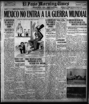 Primary view of object titled 'El Paso Morning Times (El Paso, Tex.), Vol. 36TH YEAR, Ed. 1, Monday, September 3, 1917'.