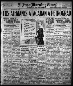 Primary view of object titled 'El Paso Morning Times (El Paso, Tex.), Vol. 38TH YEAR, Ed. 1, Friday, September 7, 1917'.