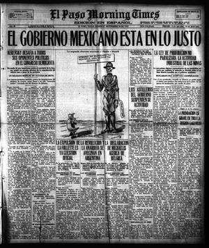Primary view of object titled 'El Paso Morning Times (El Paso, Tex.), Vol. 38TH YEAR, Ed. 1, Sunday, September 30, 1917'.