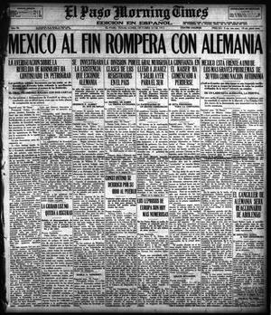 Primary view of object titled 'El Paso Morning Times (El Paso, Tex.), Vol. 38TH YEAR, Ed. 1, Monday, October 22, 1917'.