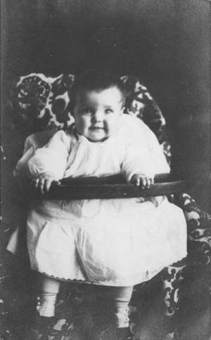 Primary view of object titled '[Eleanor Jane as a baby]'.