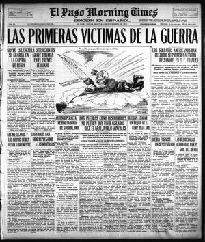 Primary view of object titled 'El Paso Morning Times (El Paso, Tex.), Vol. 38TH YEAR, Ed. 1, Tuesday, November 6, 1917'.