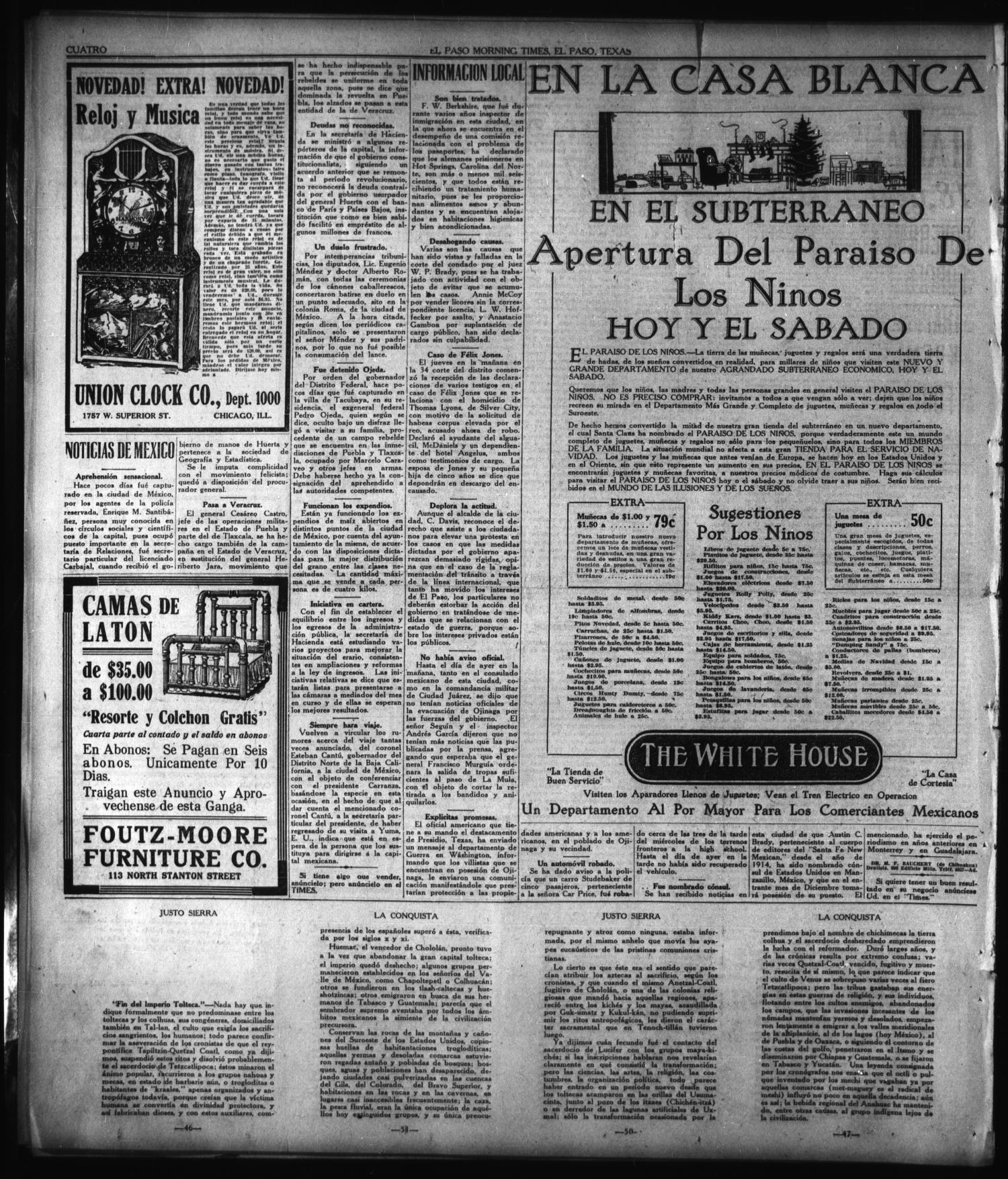 El Paso Morning Times El Paso Tex Vol 38th Year Ed 1  # Muebles Holly Hunt