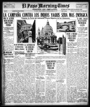 Primary view of object titled 'El Paso Morning Times (El Paso, Tex.), Vol. 38TH YEAR, Ed. 1, Sunday, November 25, 1917'.