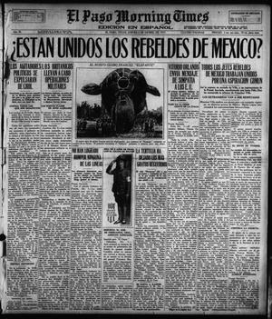 Primary view of object titled 'El Paso Morning Times (El Paso, Tex.), Vol. 38TH YEAR, Ed. 1, Thursday, December 6, 1917'.