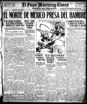 Primary view of object titled 'El Paso Morning Times (El Paso, Tex.), Vol. 38TH YEAR, Ed. 1, Tuesday, January 1, 1918'.
