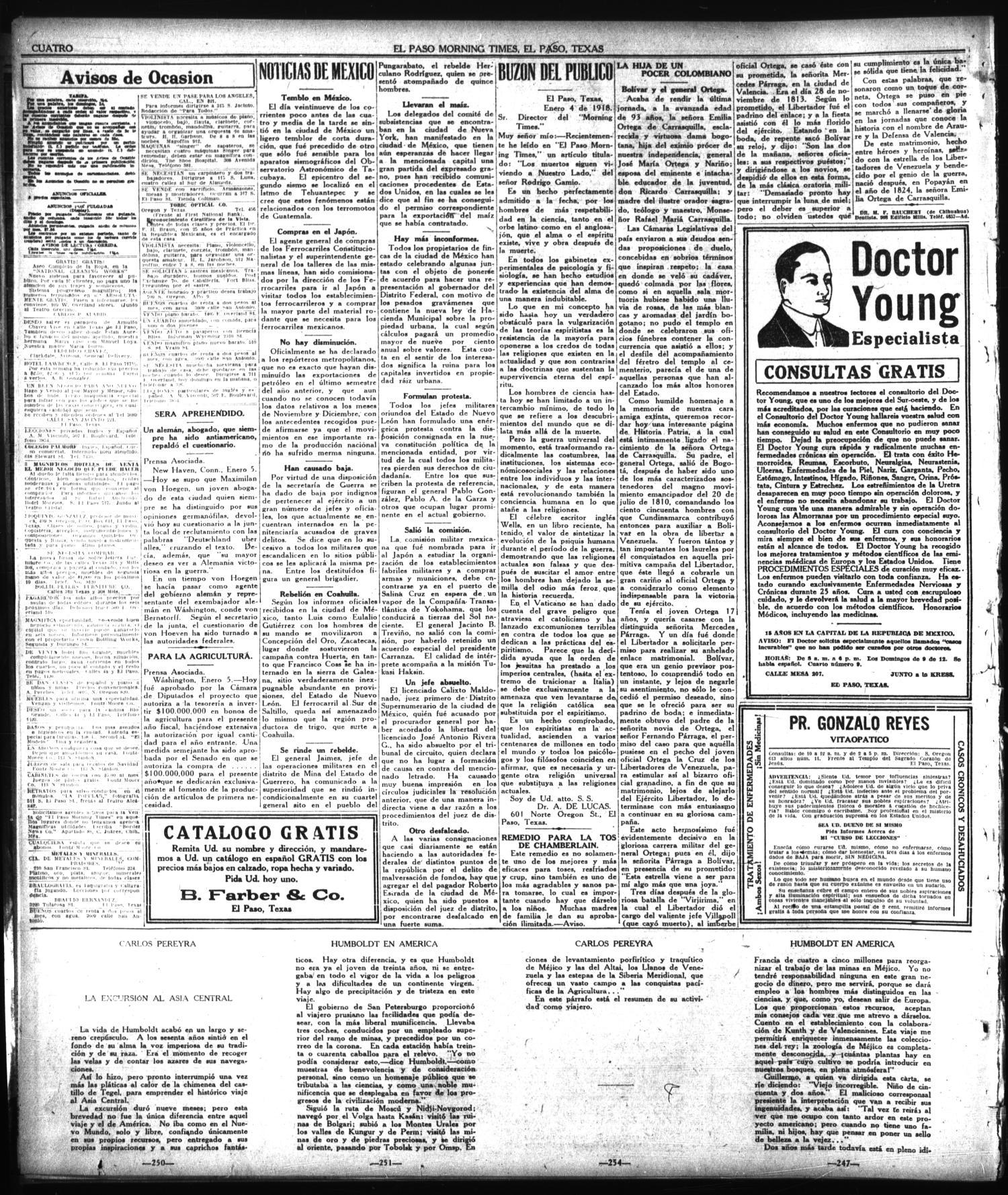 El Paso Morning Times (El Paso, Tex.), Vol. 38TH YEAR, Ed. 1, Sunday, January 6, 1918                                                                                                      [Sequence #]: 4 of 6