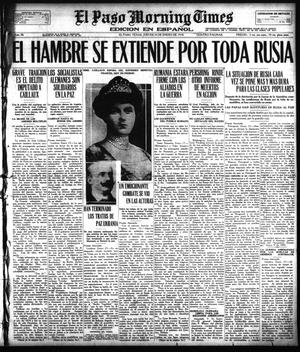 Primary view of object titled 'El Paso Morning Times (El Paso, Tex.), Vol. 38TH YEAR, Ed. 1, Thursday, January 24, 1918'.