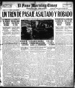 Primary view of object titled 'El Paso Morning Times (El Paso, Tex.), Vol. 38TH YEAR, Ed. 1, Monday, January 28, 1918'.