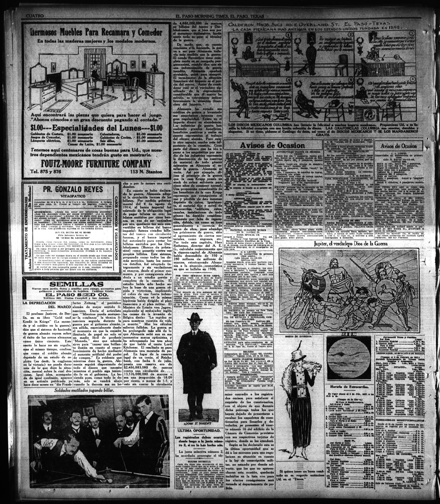 El Paso Morning Times (El Paso, Tex.), Vol. 38TH YEAR, Ed. 1, Sunday, February 17, 1918                                                                                                      [Sequence #]: 4 of 6