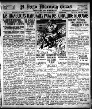 Primary view of object titled 'El Paso Morning Times (El Paso, Tex.), Vol. 38TH YEAR, Ed. 1, Monday, March 11, 1918'.