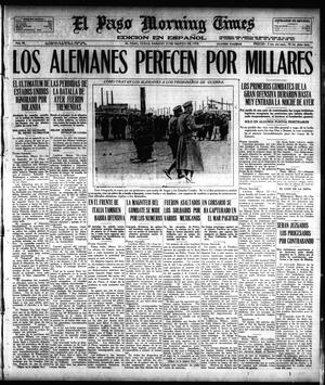 Primary view of object titled 'El Paso Morning Times (El Paso, Tex.), Vol. 38TH YEAR, Ed. 1, Saturday, March 23, 1918'.