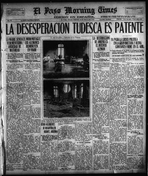 Primary view of object titled 'El Paso Morning Times (El Paso, Tex.), Vol. 38TH YEAR, Ed. 1, Friday, May 10, 1918'.