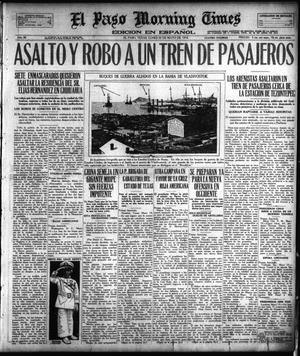 Primary view of object titled 'El Paso Morning Times (El Paso, Tex.), Vol. 38TH YEAR, Ed. 1, Monday, May 20, 1918'.