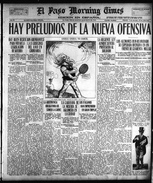 Primary view of object titled 'El Paso Morning Times (El Paso, Tex.), Vol. 38TH YEAR, Ed. 1, Tuesday, May 28, 1918'.