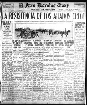 Primary view of object titled 'El Paso Morning Times (El Paso, Tex.), Vol. 38TH YEAR, Ed. 1, Sunday, June 2, 1918'.
