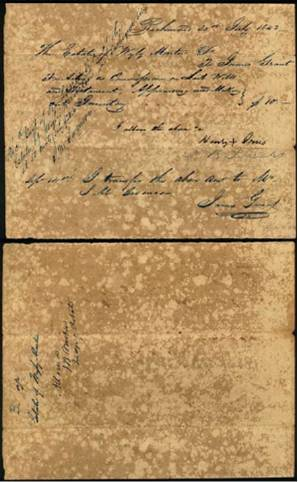 [Receipt of Estate of W. Martin to James Grant]                                                                                                      [Sequence #]: 1 of 1