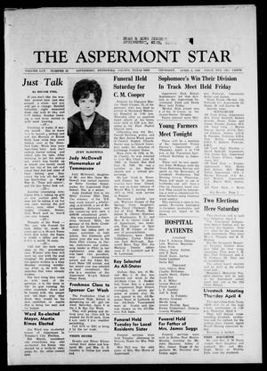 Primary view of object titled 'The Aspermont Star (Aspermont, Tex.), Vol. 70, No. 32, Ed. 1 Thursday, April 4, 1968'.