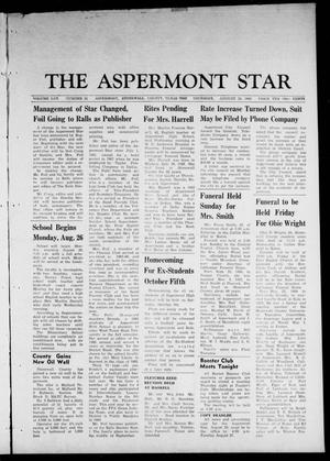 Primary view of object titled 'The Aspermont Star (Aspermont, Tex.), Vol. 70, No. 52, Ed. 1 Thursday, August 22, 1968'.