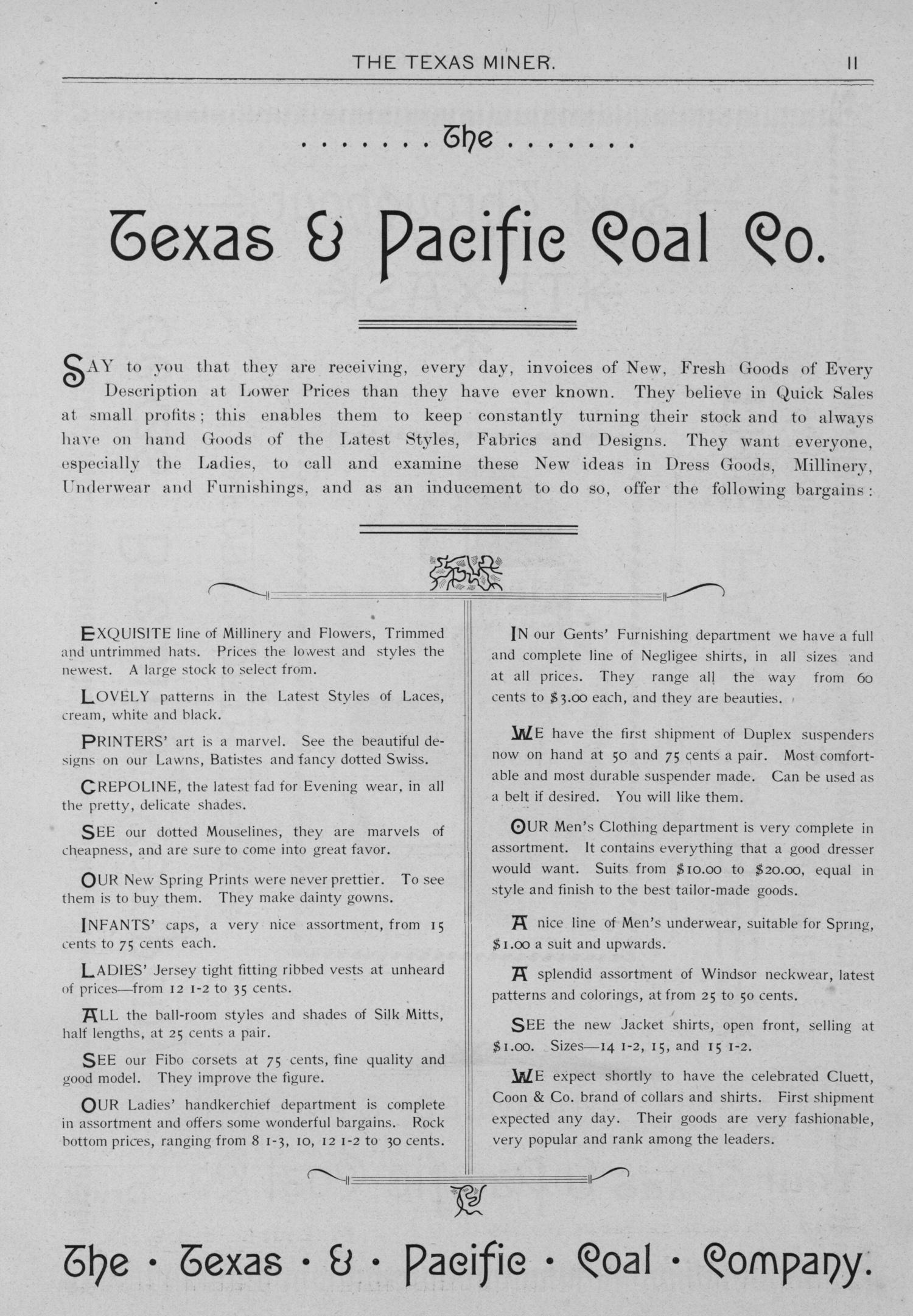 The Texas Miner, Volume 1, Number 10, March 24, 1894                                                                                                      11