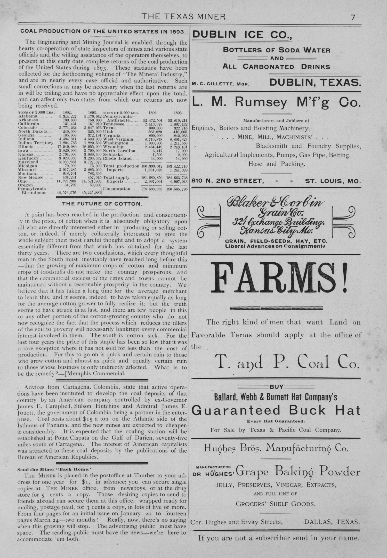 The Texas Miner, Volume 1, Number 10, March 24, 1894                                                                                                      7