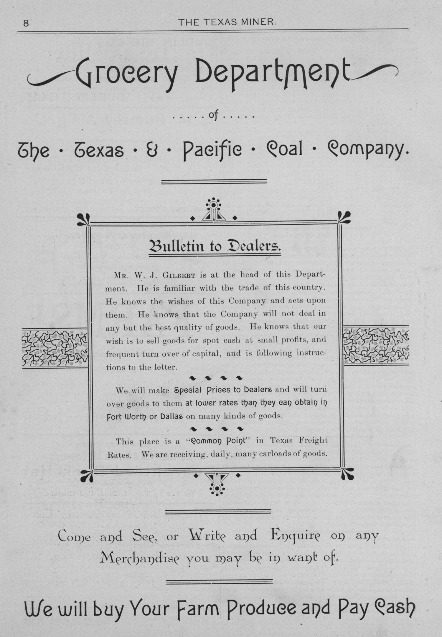 The Texas Miner, Volume 1, Number 10, March 24, 1894                                                                                                      8