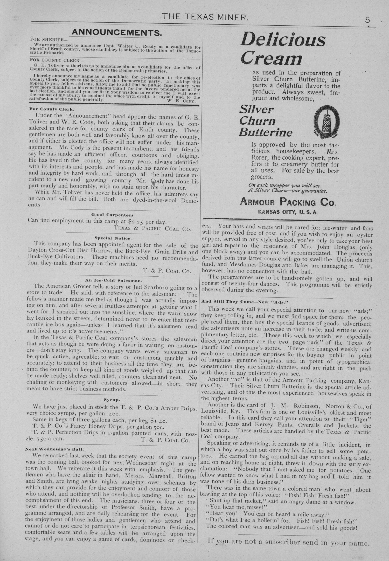 The Texas Miner, Volume 1, Number 11, March 31, 1894                                                                                                      5