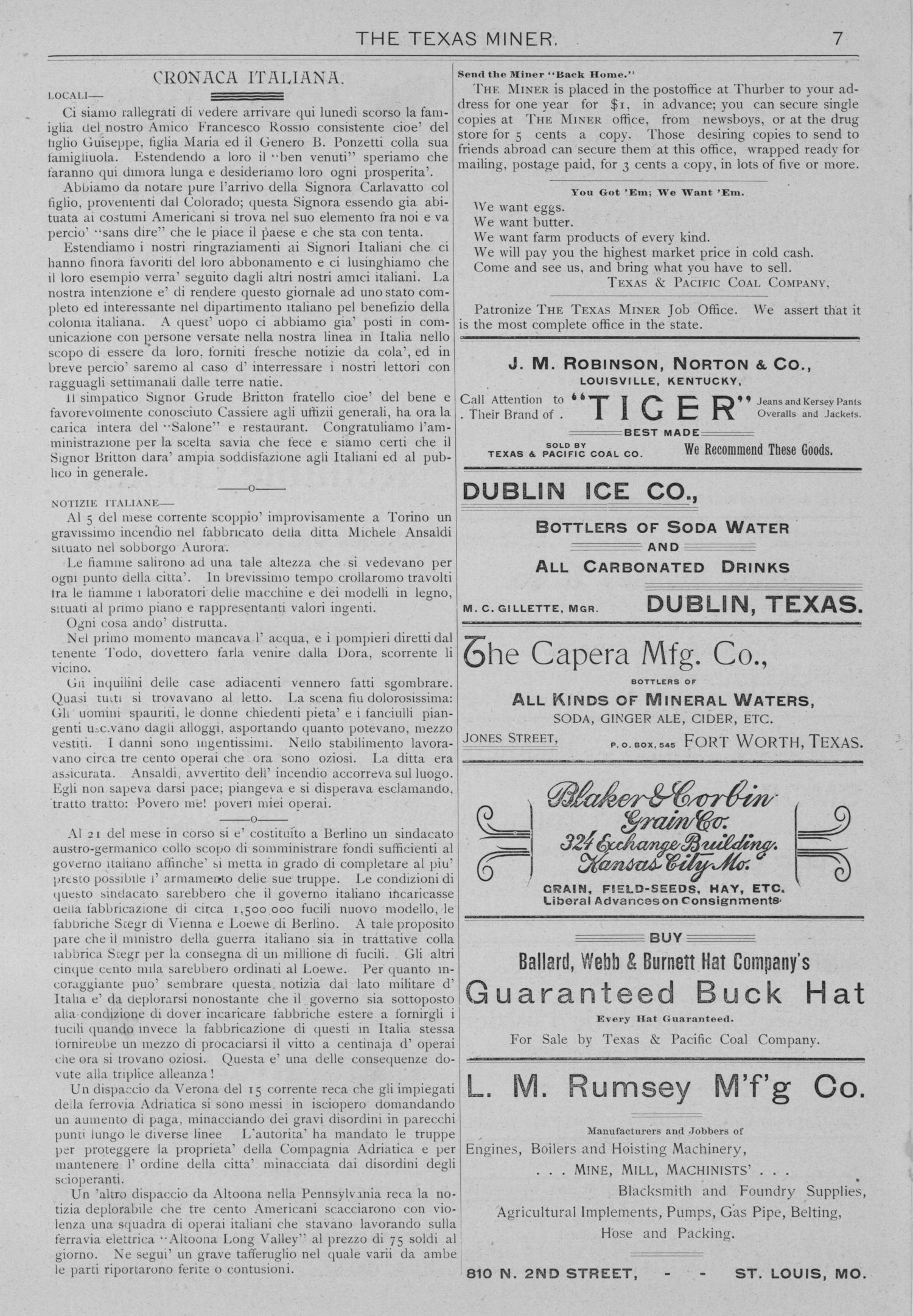The Texas Miner, Volume 1, Number 11, March 31, 1894                                                                                                      7